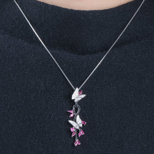Load image into Gallery viewer, Butterfly Ruby Pendant