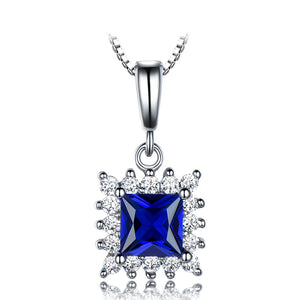 Load image into Gallery viewer, Sterling Silver Sapphire Pendant