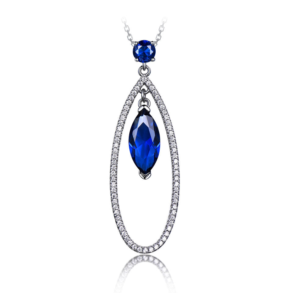 Load image into Gallery viewer, Drop Sapphire Pendant