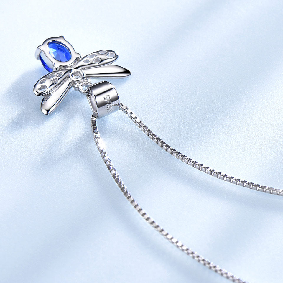 Sapphire Bee Necklace