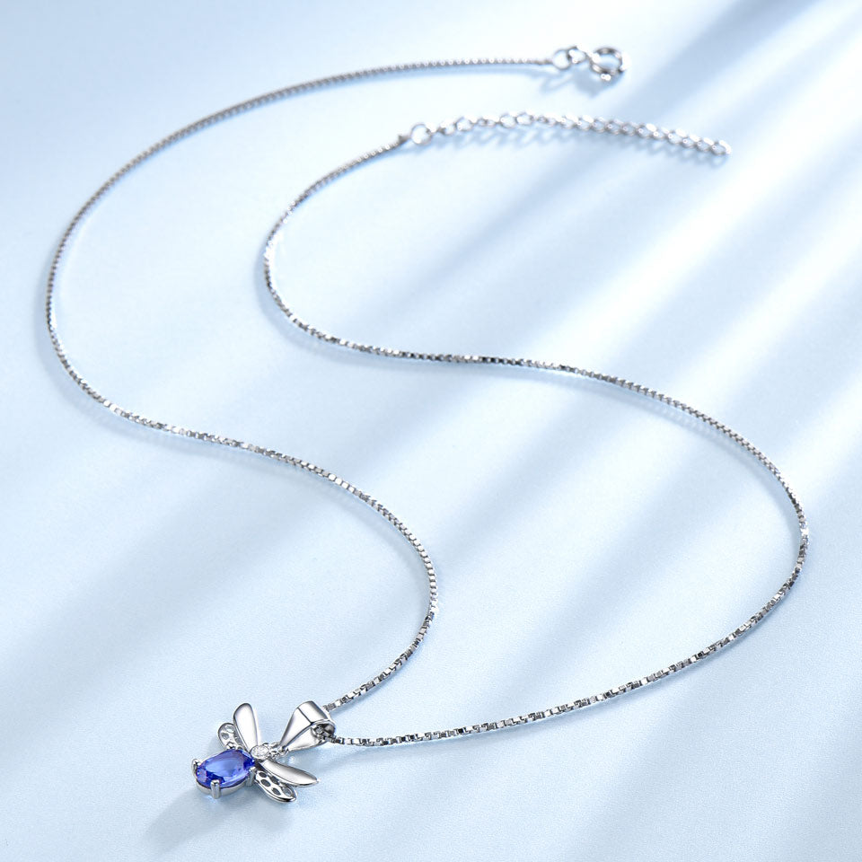 Tanzanite Bee Necklace