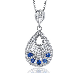 Load image into Gallery viewer, Sapphire Silver Pendant