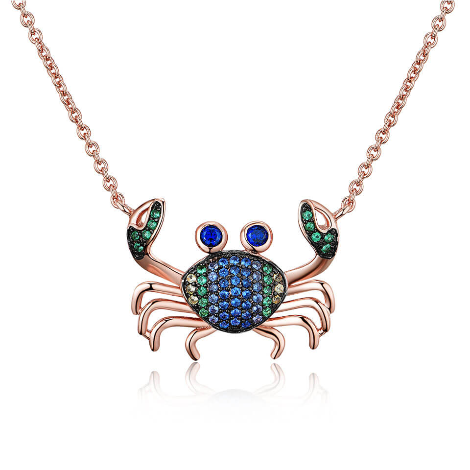 Colorful Crab Chain Necklace