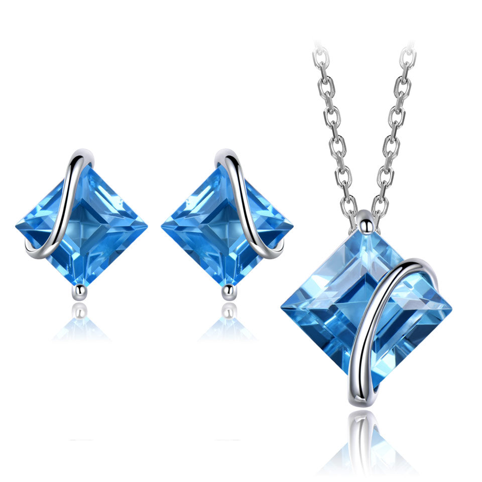 Load image into Gallery viewer, Swiss Blue Topaz Set