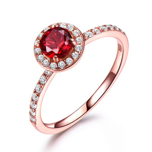 Load image into Gallery viewer, Red Garnet Ring