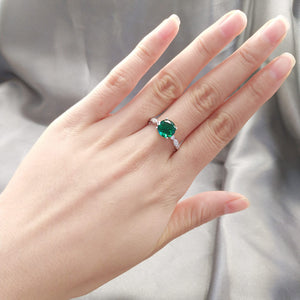 Load image into Gallery viewer, Emerald Gemstone Ring