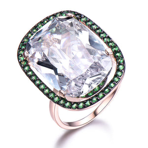 Load image into Gallery viewer, Cubic Zirconia Silver Ring