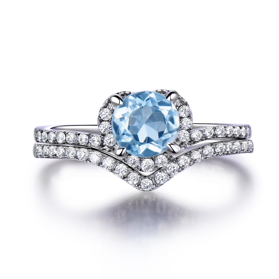 Sky Blue Topaz Rings