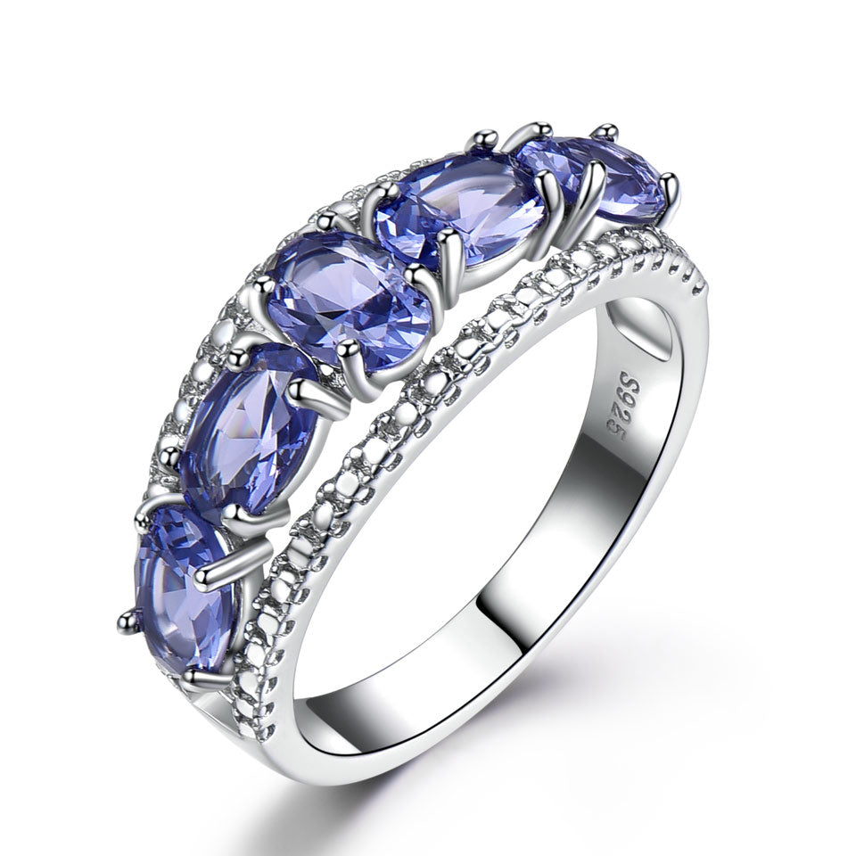 Load image into Gallery viewer, Five Tanzanite Ring