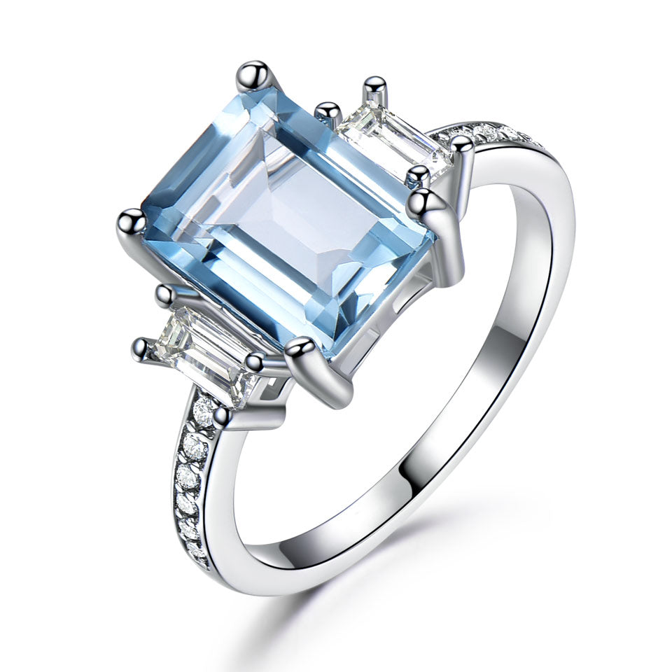 Square Topaz Ring