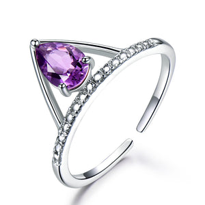 Load image into Gallery viewer, Amethyst Gemstone Ring