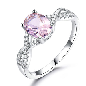 Load image into Gallery viewer, Morganite Silver Ring