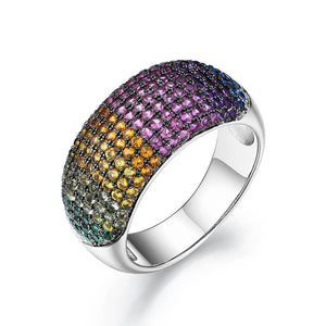 Load image into Gallery viewer, Silver Rainbow Ring