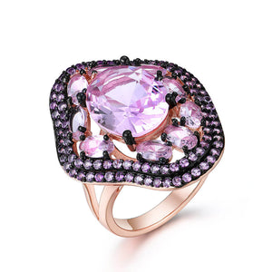 Created Amethyst Ring