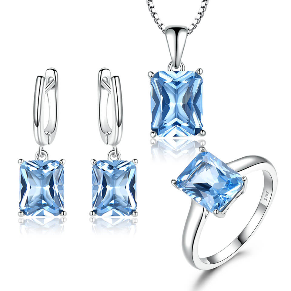 Topaz Wedding Jewelry Set