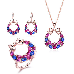 Load image into Gallery viewer, Romantic Colorful Jewelry Set