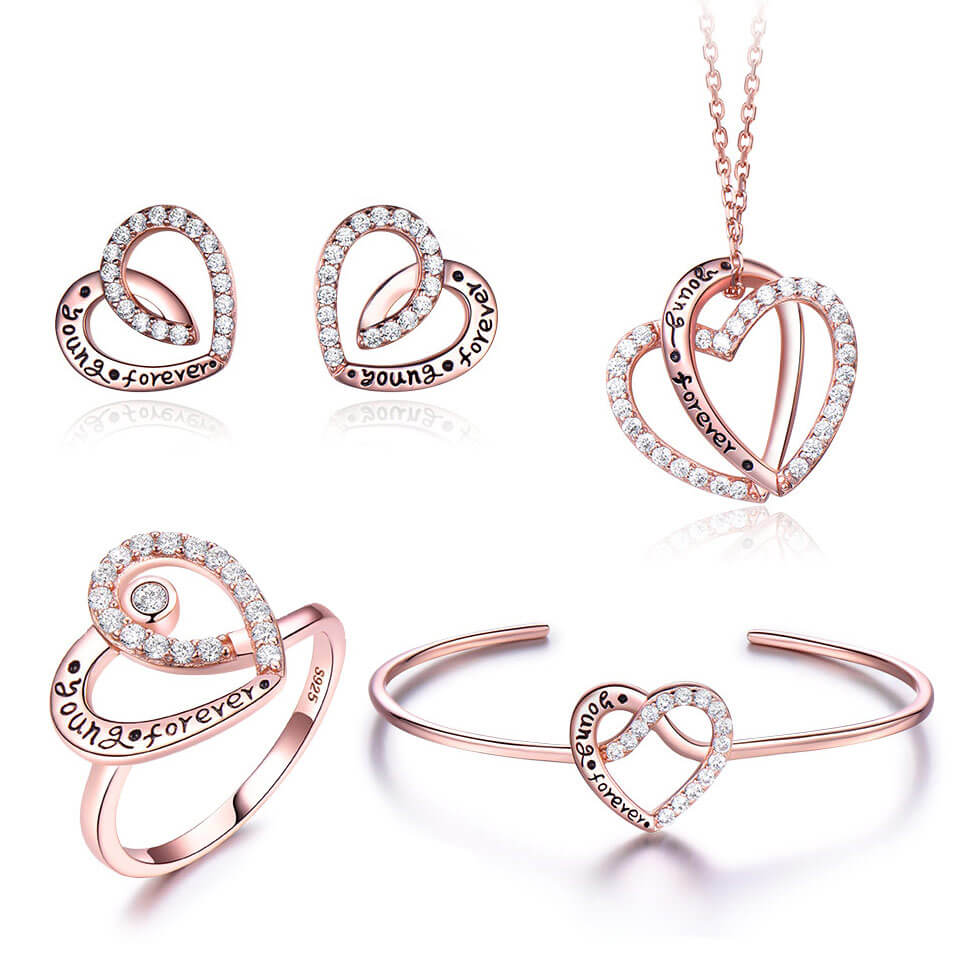 YOUNG FOREVER Silver Jewelry Set