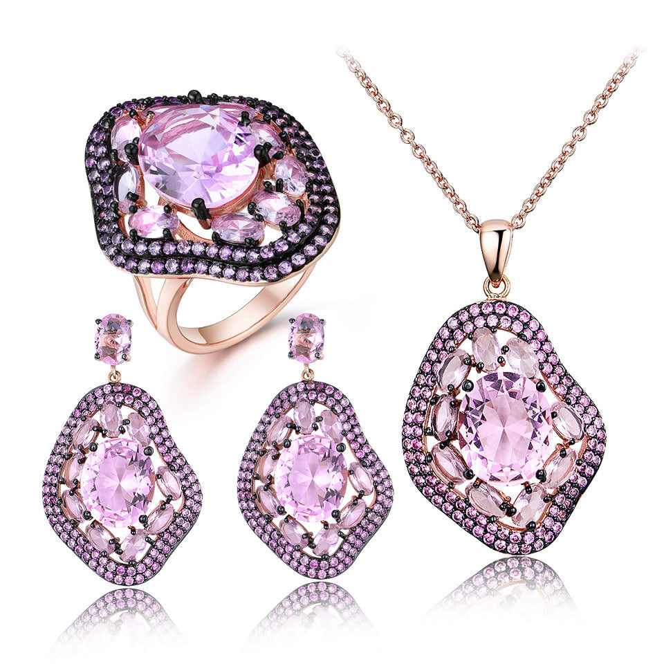 Morganite Jewelry Set