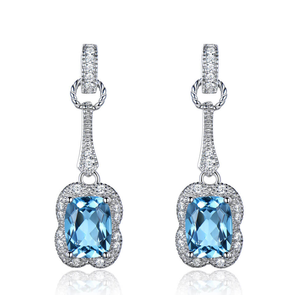 Load image into Gallery viewer, Topaz Gemstone Earrings
