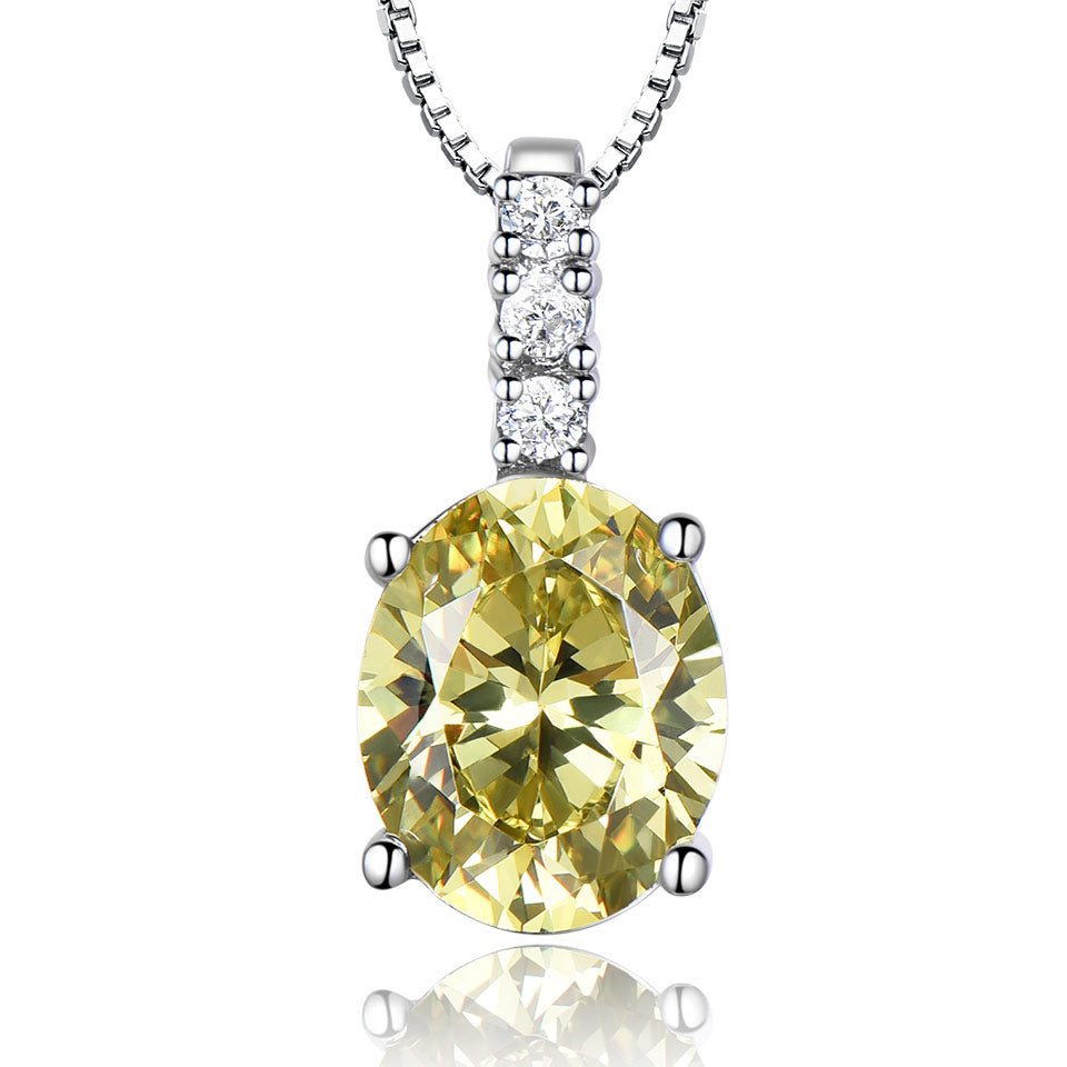 Load image into Gallery viewer, Oval Citrine Pendant
