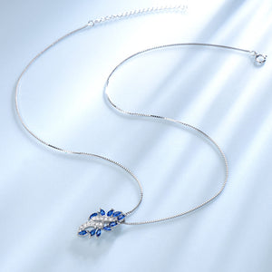 Sapphire Leaf Necklace