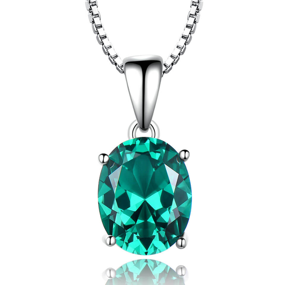 Load image into Gallery viewer, Emerald Silver Pendant