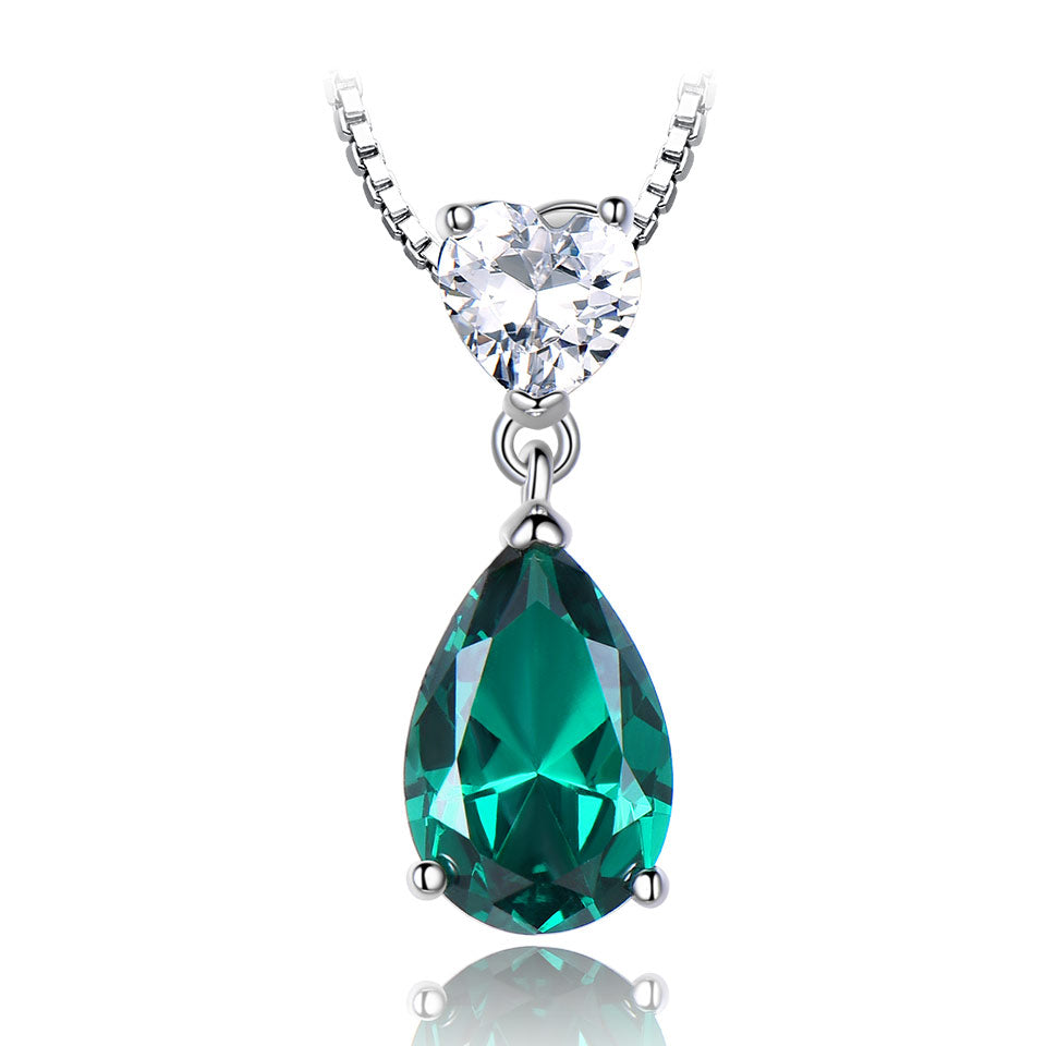 Load image into Gallery viewer, Engagement Emerald Pendant