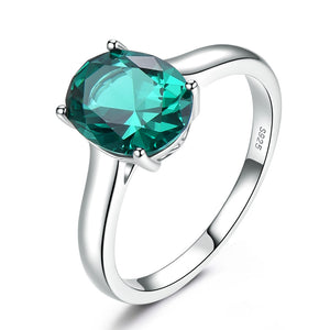 Nano Emerald Engagement Ring