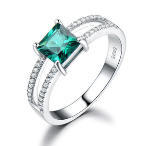 Square Cut Emerald Ring