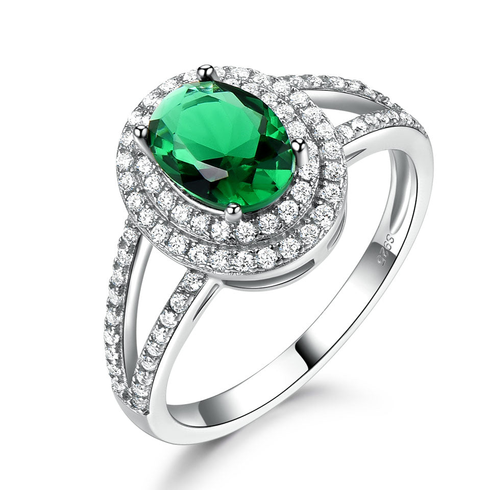 Load image into Gallery viewer, Luxury Emerald Gemstone Ring