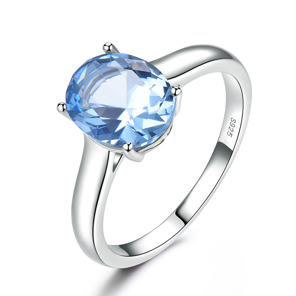 Load image into Gallery viewer, Blue Topaz Wedding Ring