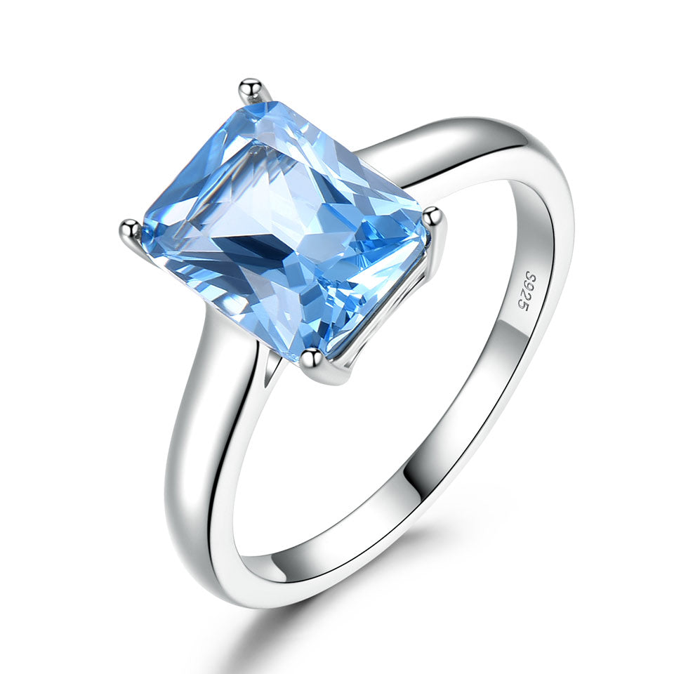 Sky Blue Gemstone Topaz Ring
