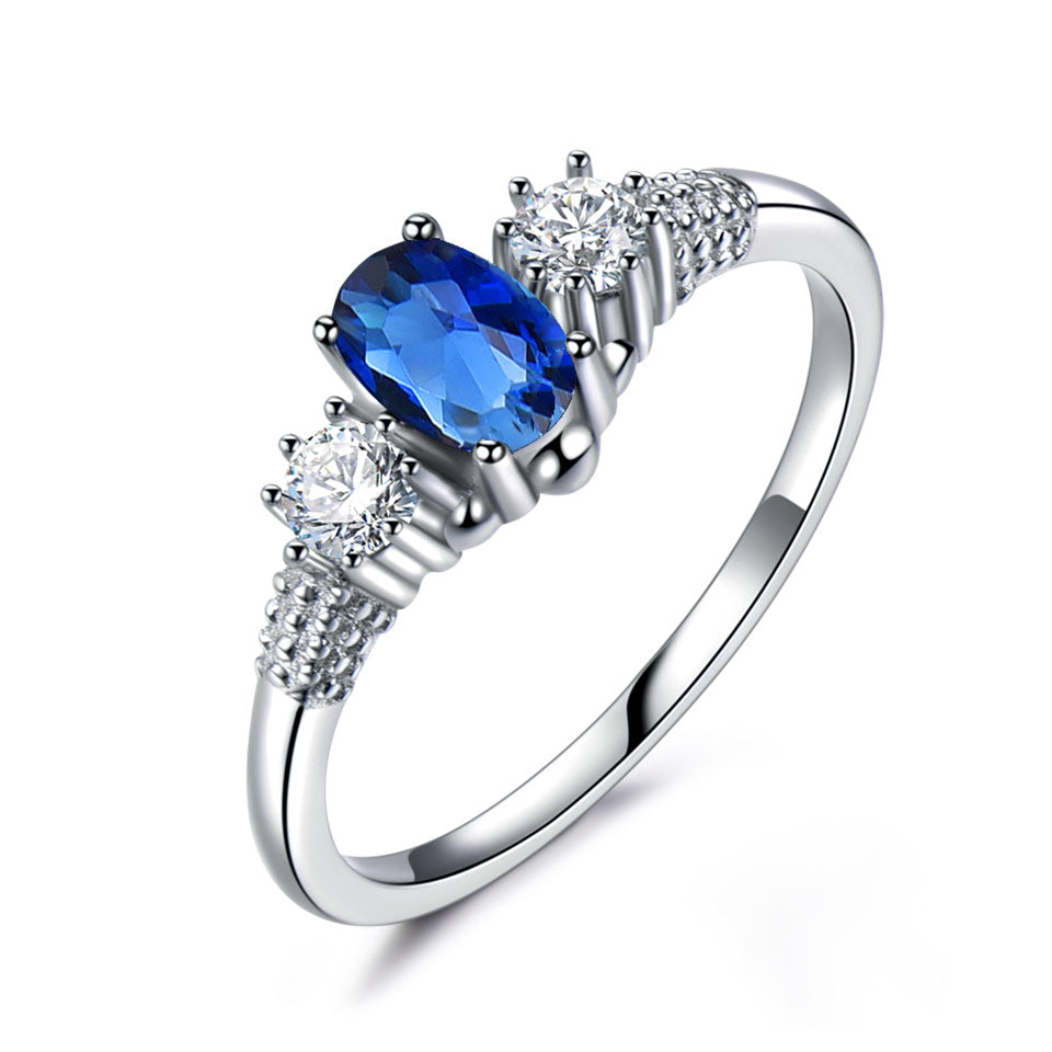 Blue Sapphire Spinel Ring