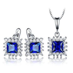 Load image into Gallery viewer, Sapphire Gemstone Jewelry Set