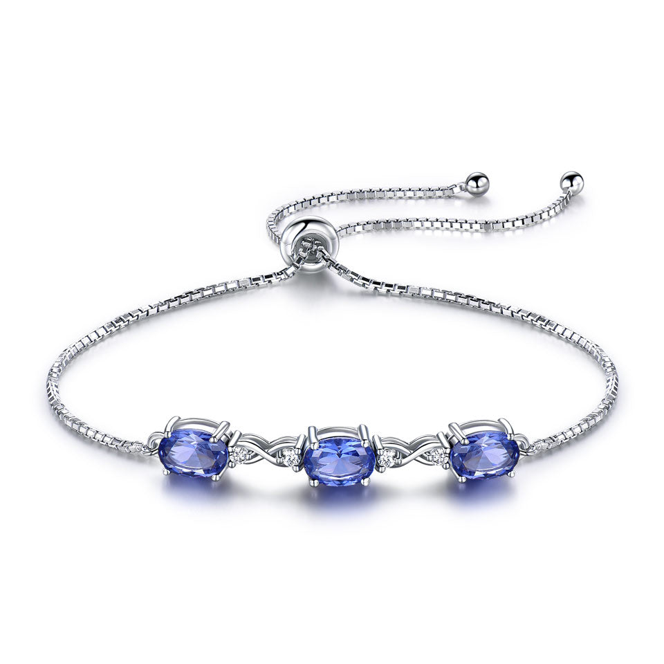 Load image into Gallery viewer, Natural Tanzanite Bracelet