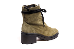 *Olive Green Suede Ankle Boots