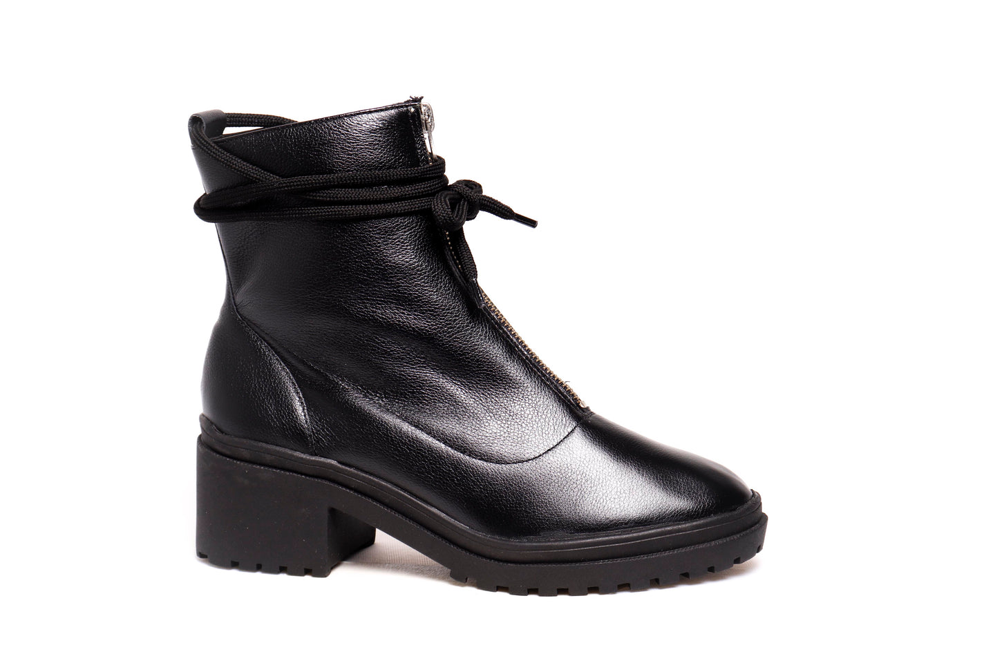 *NEW* Black Leather Ankle Boots