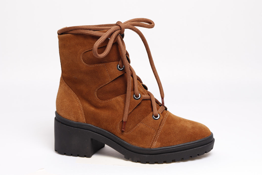 *NEW* Camel Suede Combat Boots