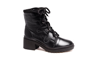 *NEW* Black Leather Combat Boots