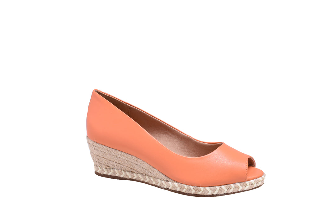 Coral Napa, String Wedges