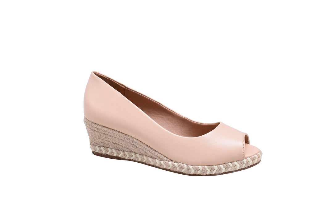 Cream Napa, String Wedges