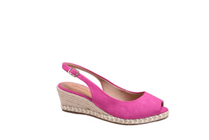 Hot Pink, Suede Wedges