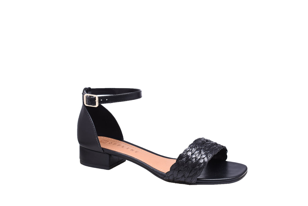 Black Napa, Block Sandals