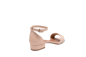 Cream Napa, Block Sandals