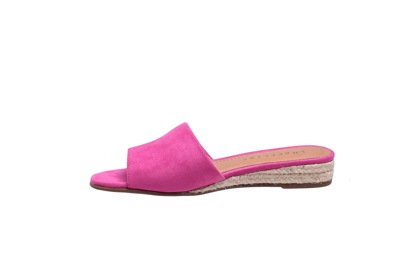 Hot Pink, Suede, Slip On Wedge