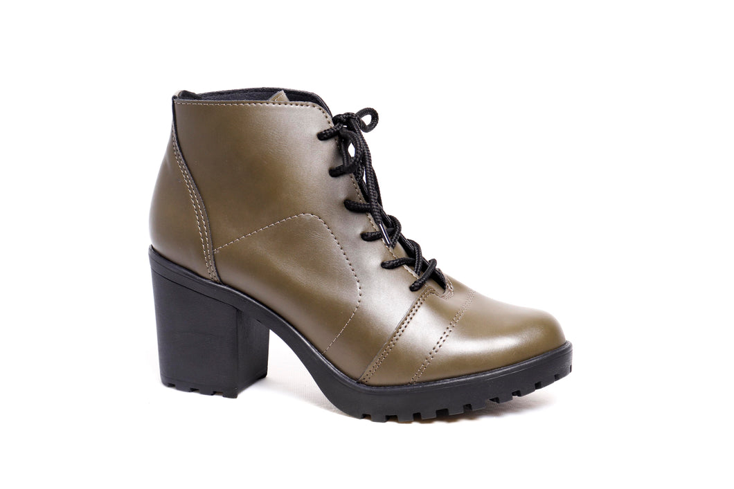 *NEW* Olive Green Napa Combat Booties