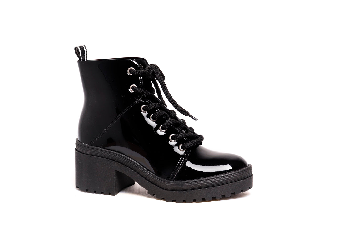 *NEW* Black Patent Combat Boots