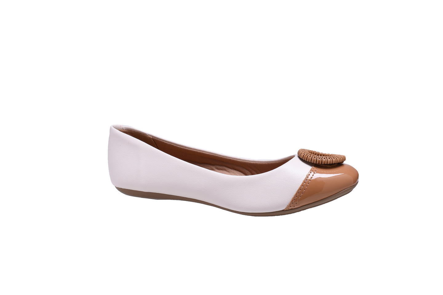 Pearl and Camel Ballerina Flats