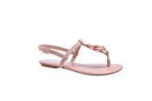 Load image into Gallery viewer, Nude Patent, Flat T-Strap Sandals