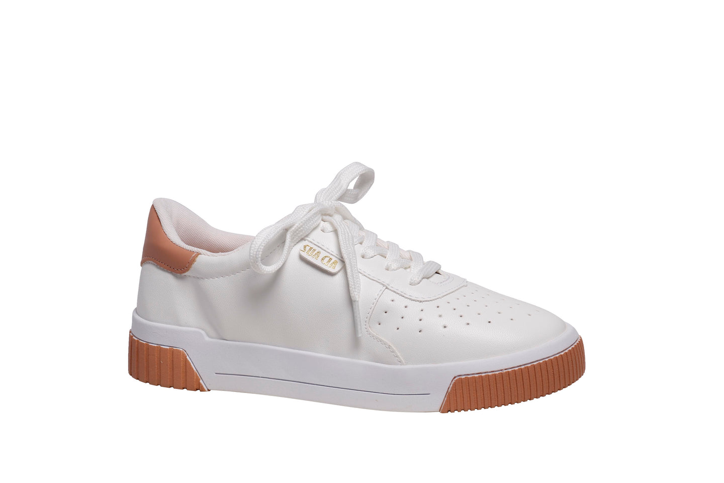 *NEW* White and Camel Napa Sneakers